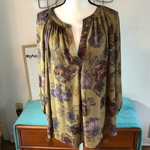 Lucy & Laurel Beautiful Sheer Floral Blouse 1X